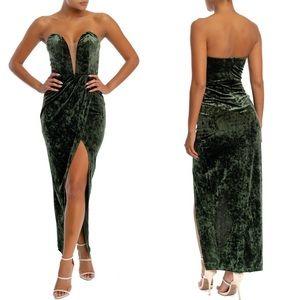 Velvet Sweetheart Maxi Dress Gown